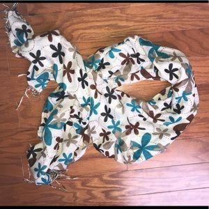 Floral 100% cotton shawl/ scarf.